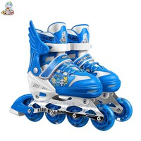 3 Colors Kids Inline Skate Roller Skating Shoes Size Adjustable Skates with Wheels Patines for Children