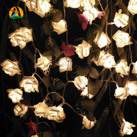 3M 30LED Holiday Rose Floral LED String Lights AA Battery Event Wedding Party Decoration Lightings LED de Vacaciones Luces