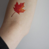 Autumn Leaf Temporary Tattoo