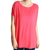 Hot Pink Piko Short Sleeve Top