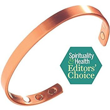 Earth Therapy Pure Copper Magnetic Bracelet Arthritis Pain Relief, Carpal Tunnel, RSI and More...
