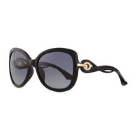 Twisting Diorissimo Sunglasses, Black - Black