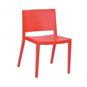 Elio Stackable  Chair  S/2 | Red