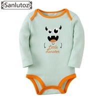 Sanlutoz Newborn Baby Clothes Infant Baby Clothing Boys Girls Winter Baby Rompers Cute Birthday Wear