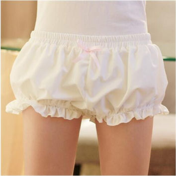Japanese women girl lolita Harajuku cute pumpkin soft bud bloomers shorts