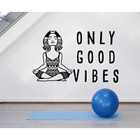 Vinyl Wall Decal Meditation Room Yoga Center Woman Quote Stickers Unique Gift (ig4744)