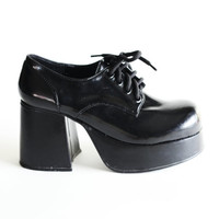 Patent Black Witchy Wedge Heels