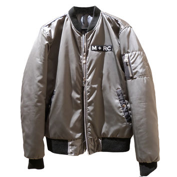"MRCNOIR ""M+RC VELCRO"" Dark SIlver Grey BOMBERS JACKET"