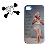 apple iPhone 4/4s/5, Ipod touch 4/5, Samsung Galaxy S3, plastic case OOAK Design - Marilyn Monroe Quote Laugh