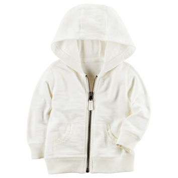 Baby Girl Carter's Hooded French Terry Cardigan