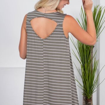 Tina Sage Stripe Dress