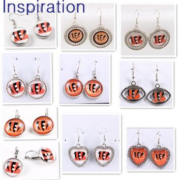 Hot Cincinnati Bengals Drop Dangle Earrings For Women USA Football Team Pendant Earring Charm Trendy Jewelry