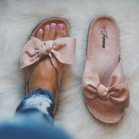 Pink Bow Sandals
