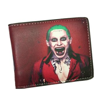 Suicide Squad Wallet The Joker Harley Quinn And Bat Man Anime Comics Bifold Men Women Wallets With Card Holder Purse Billeteras