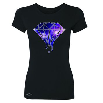 Zexpa Apparel Galaxy Diamond Bleeding Dripping Women's T-shirt Cool Design Tee