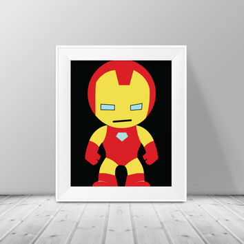 Iron Man Decor - Super Hero Wall Art, Superhero Print, Instant Download , PRINTABLE 8x10, Kids Wall Art , Nursery Wall Art, Playroom Art