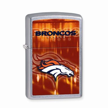 Zippo Denver Broncos High Polish Chrome Lighter - Engravable Gift Item