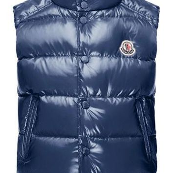 Boy's Moncler 'Tib' Quilted Down Vest,