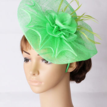 Attractive multiple color sinamay  fascinator  headwear occasion hair accessories church headpiece suit for all season TMYQ126