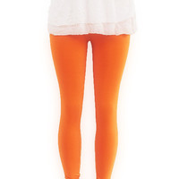 Orange Knit Leggings Organic Eco Clothing Womens by FineThreadz