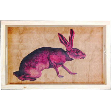 Rabbit Wood Tray