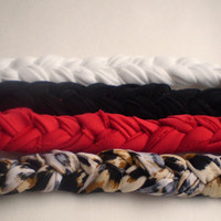 Black, White, Red, and Leopard Print Braided Headbands Women's Hair Accessories Hippie Headband Elastic Headband