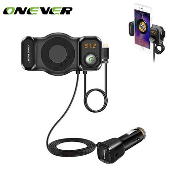 Onever 2 in 1 Phone Holder FM Transmitter Bluetooth For xiaomi roidmi mp3 player Support SIRI Function For bmw e46 car styling