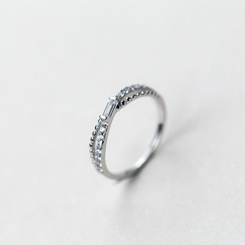 S925 Sterling Silver Fashion Personality Double Ring  J3031  171204