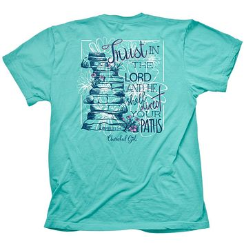 Cherished Girl Trust in the Lord Girlie Christian Bright T Shirt