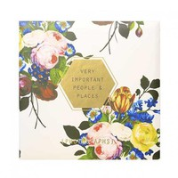 Floral Geo Post Bound Magnetic Page Photo Album