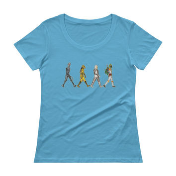 Bounty Road's Fab Four Beatles Star Wars Mash Up Parody Ladies' Scoopneck T-Shirt