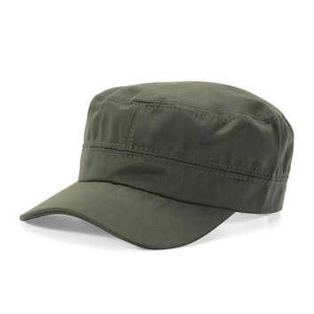 Unisex Women Men Solid Classic Plain Vintage Army Hat Cadet Patrol Cap Adjustable Baseball Caps Hats