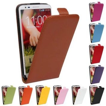 Luxury Genuine Real Leather Case Flip Cover Mobile Phone Accessories Bag Retro Vertical For LG G2 D802 SZ