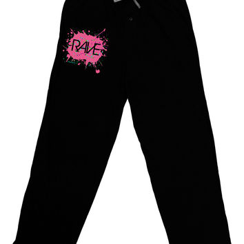 Rave Splatter Pink Relaxed Adult Lounge Pants