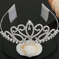 Silver Plated Crystal Rhinestone Bride Headband Tiara Hair Band + 2 Comb Gift = 1929697028