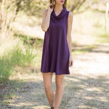 Autumn Dreams Dress - Eggplant