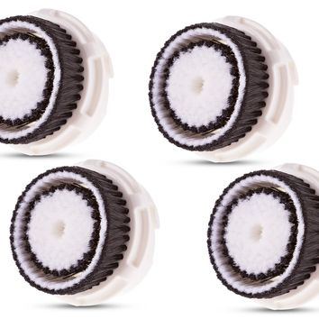 Compatible Clarisonic Replacement Brush Heads for Sensitive Skin (4 Pack)