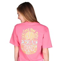 Sun, Sea & Sand Tee in Berry by Southern Tide