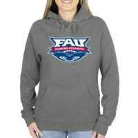FAU Owls Ladies Distressed Logo Vintage Pullover Hoodie - Gunmetal