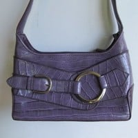 Purple Alligator Print Purse Purple Pocketbook Vegan Purple Handbag Gator Print Purse Small Purple Handbag