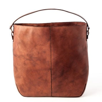 Leather Tote Bag Distressed Woman