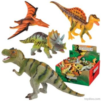 Classic Dinosaurs - Toysmith - Pack of 24 ea