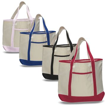 Extra Large Heavy Canvas Boat Tote Bags | 12 oz. | TF215
