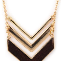 Stacked Chevrons Necklace