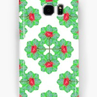 'Floral Collage Check Pattern' Samsung Galaxy Case/Skin by DFLC Prints