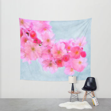 Cherry Blossom (in memory of Mackenzie) Wall Tapestry by Alice Gosling