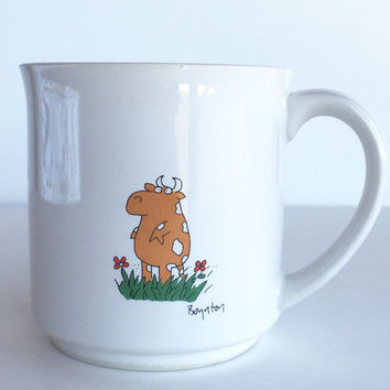 Vintage Sandra Boynton Cow Mug, Vintage Boynton To Someone Who is Outstanding In The Field Cup