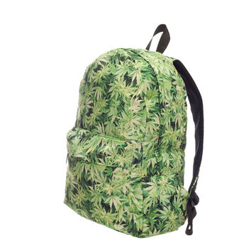 Weed Light 3D Printing backpack women mochila 2016 Fashion New Who Cares school bags for teenage girls sac a dos canvas backpack