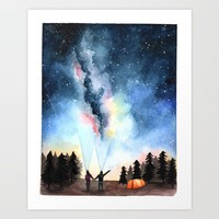 Galaxy Artwork Art Print by bweeber