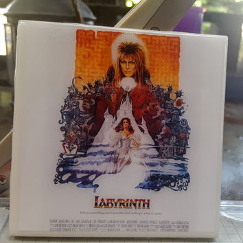 Single Tile Drink Coaster David Bowie Labyrinth 80s Movie Drink Coaster